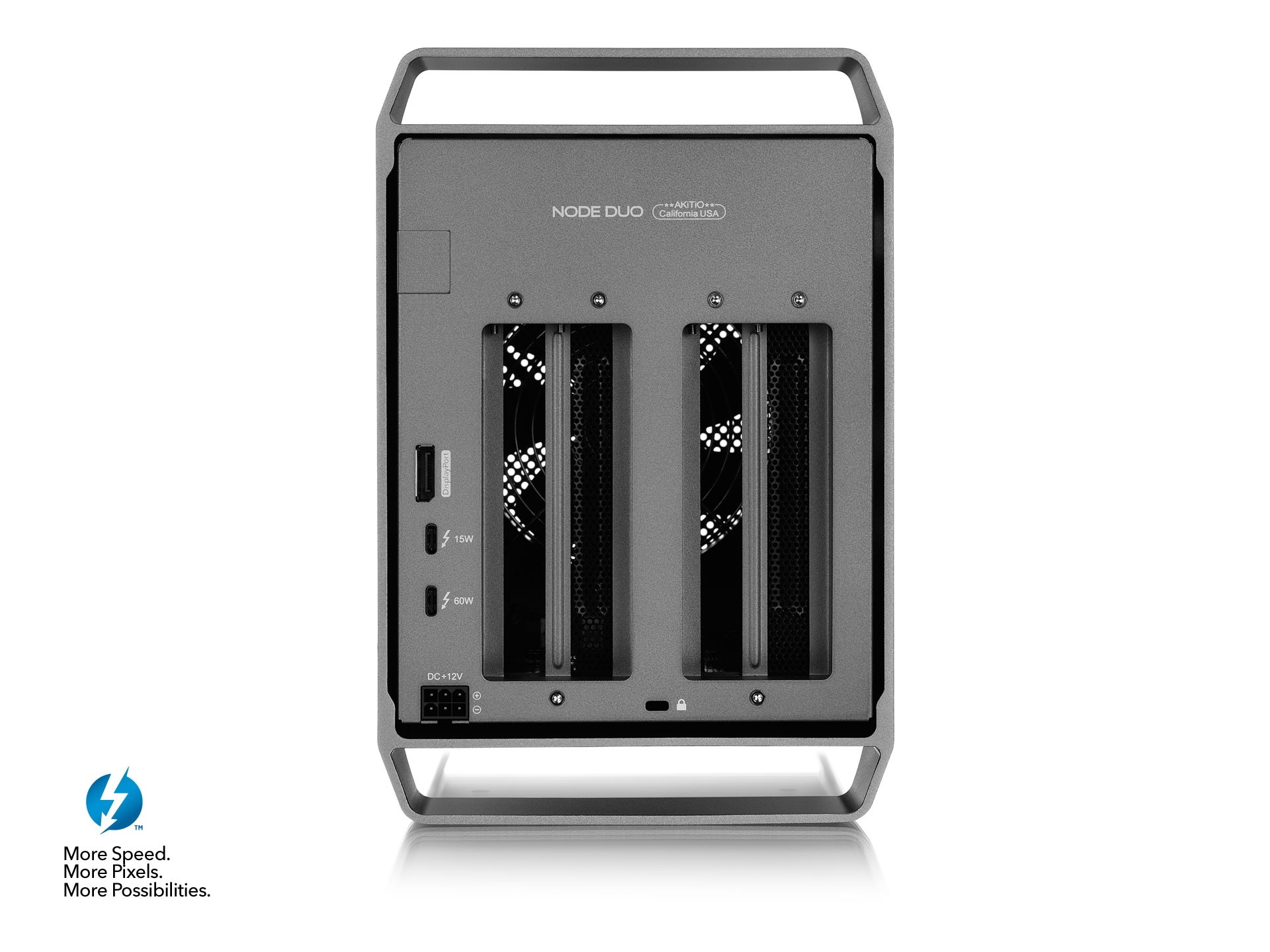 AKiTiO Node Duo Thunderbolt 3 PCIe Expansion Chassis for 2 x PCIe Cards. Includes Thunderbolt 3 cable., AKT3N2AA0002Y