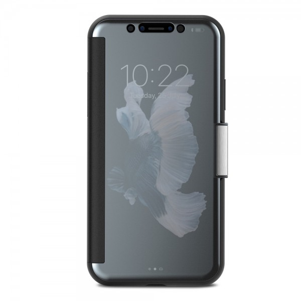 **DISCONTINUED** Moshi StealthCover for iPhone X/Xs, Slim Folio Case with Magnetic Clasp - Gunmetal Gray, 99MO102021