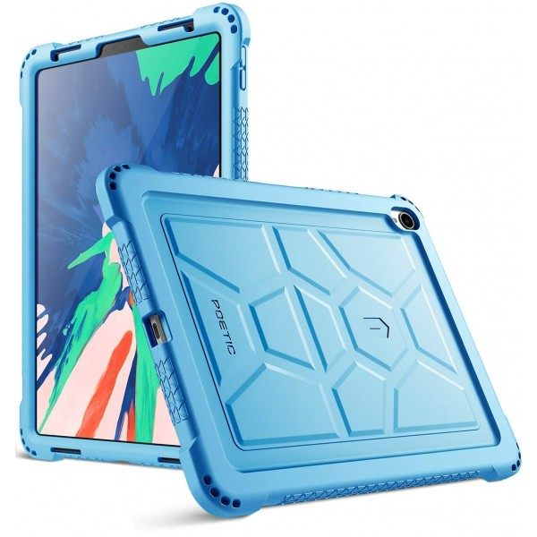 Poetic TurtleSkin Series Protective Silicone Case for Apple iPad Pro 11 Inch (2018) [Not Supported Apple Pencil Magnetic Attachment] - Blue, B07GD4CW22