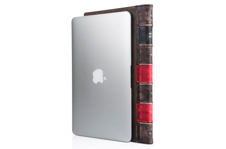 """Twelve South BookBook Padded Leather Case - Work-in Folio for 11"""" Macbook Air"""