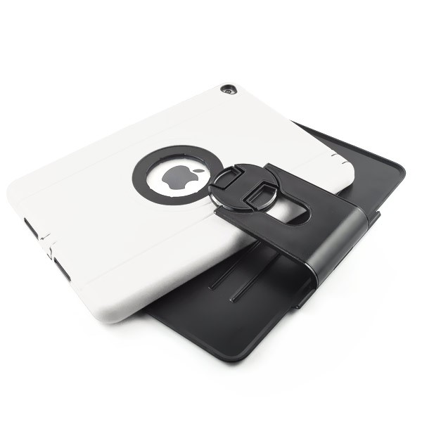 Shockproof 360 Degree Rotation Stand Case for iPad Air 2 - White, IPD6-RUG-67834