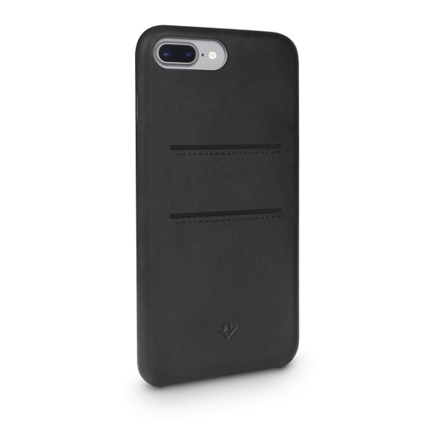 Twelve South Relaxed Leather w/ Pockets for iPhone 8 Plus/7 Plus/6S Plus - Black, 12-1653