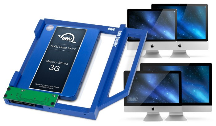 OWC Data Doubler Optical Bay Hard Drive/SSD Mounting Solution for iMac 2009-2011, OWCDIDIMCL0GB