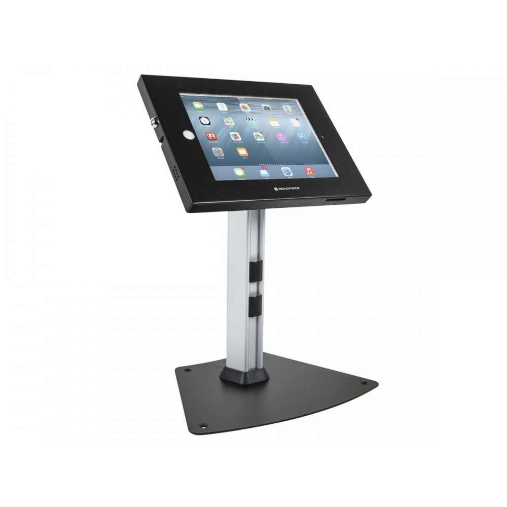 Monoprice Safe and Secure Tablet Desktop Display Stand for iPad 2-4 and iPad Air, Black, 11918