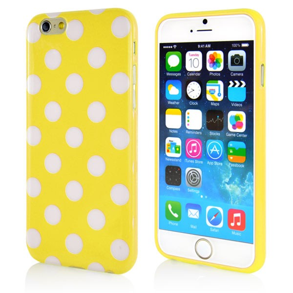 """Dot Pattern Case for iPhone 6 4.7"""" - Yellow, *DOT-IPH6-64641"""