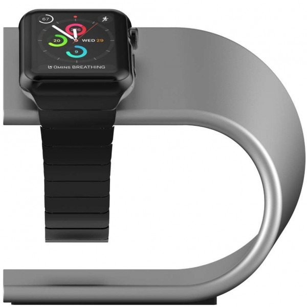 Nomad Stand for Apple Watch - Silver, STAND-APPLE-S