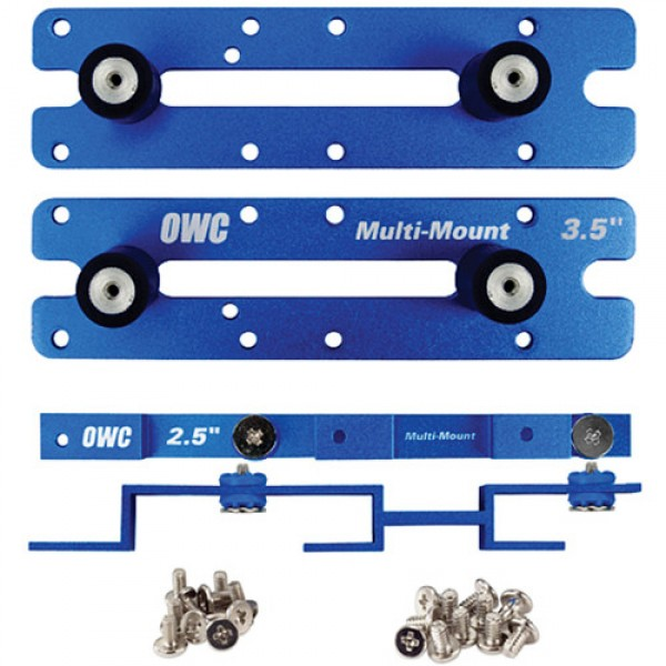 OWC Multi-Mount: 2.5 to 3.5 / 3.5 to 5.25 Hard Drive adapter bracket set, MM-25-35-52
