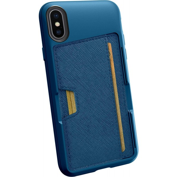 Smartish iPhone X/XS Wallet Case Vol. 2 - Credit Card Holder (Silk) - Blues on The Green, QX-TEAL