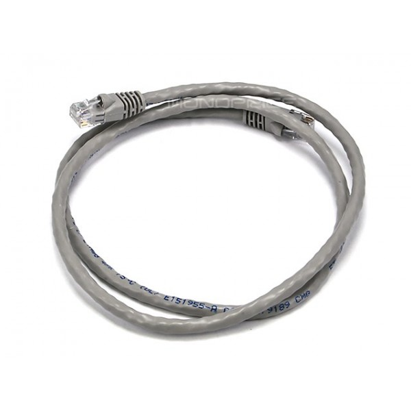 0.9m 24AWG Cat6 500MHz Crossover Ethernet Bare Copper Network Cable - Gray, ETH-2375