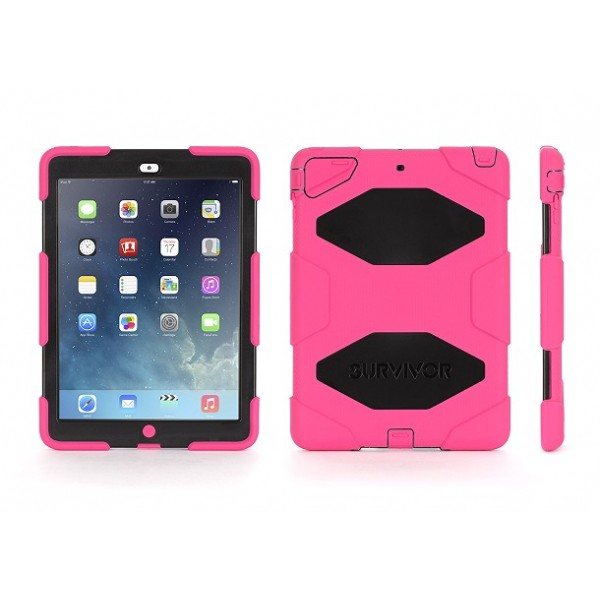 Griffin Survivor for iPad Air - Pink/Black, SURV-IPD5-PK/BK