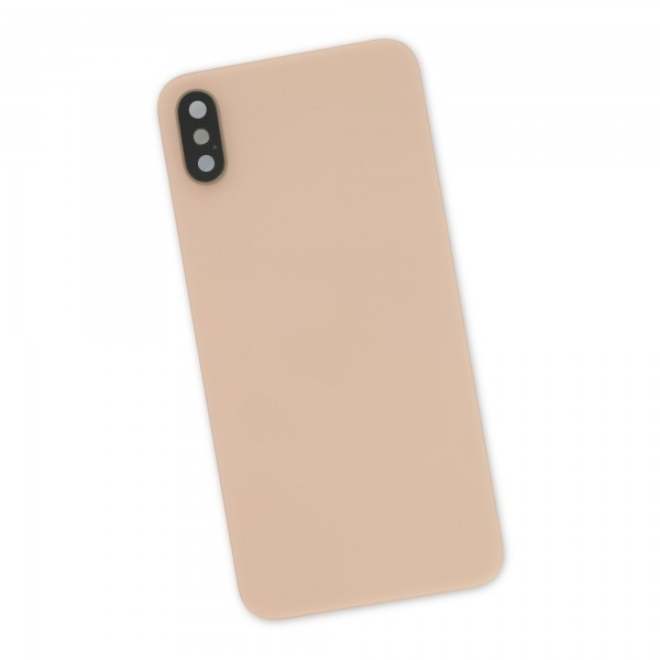 iPhone XS Aftermarket Blank Rear Glass Panel with Lens Cover - Gold, IF406-016-3