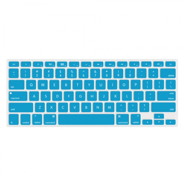 "NewerTech NuGuard Keyboard Cover for 2011-15 MacBook Air 13"", All MacBook Pro Retina - Light Blue, NWTNUGKBMBRBL"
