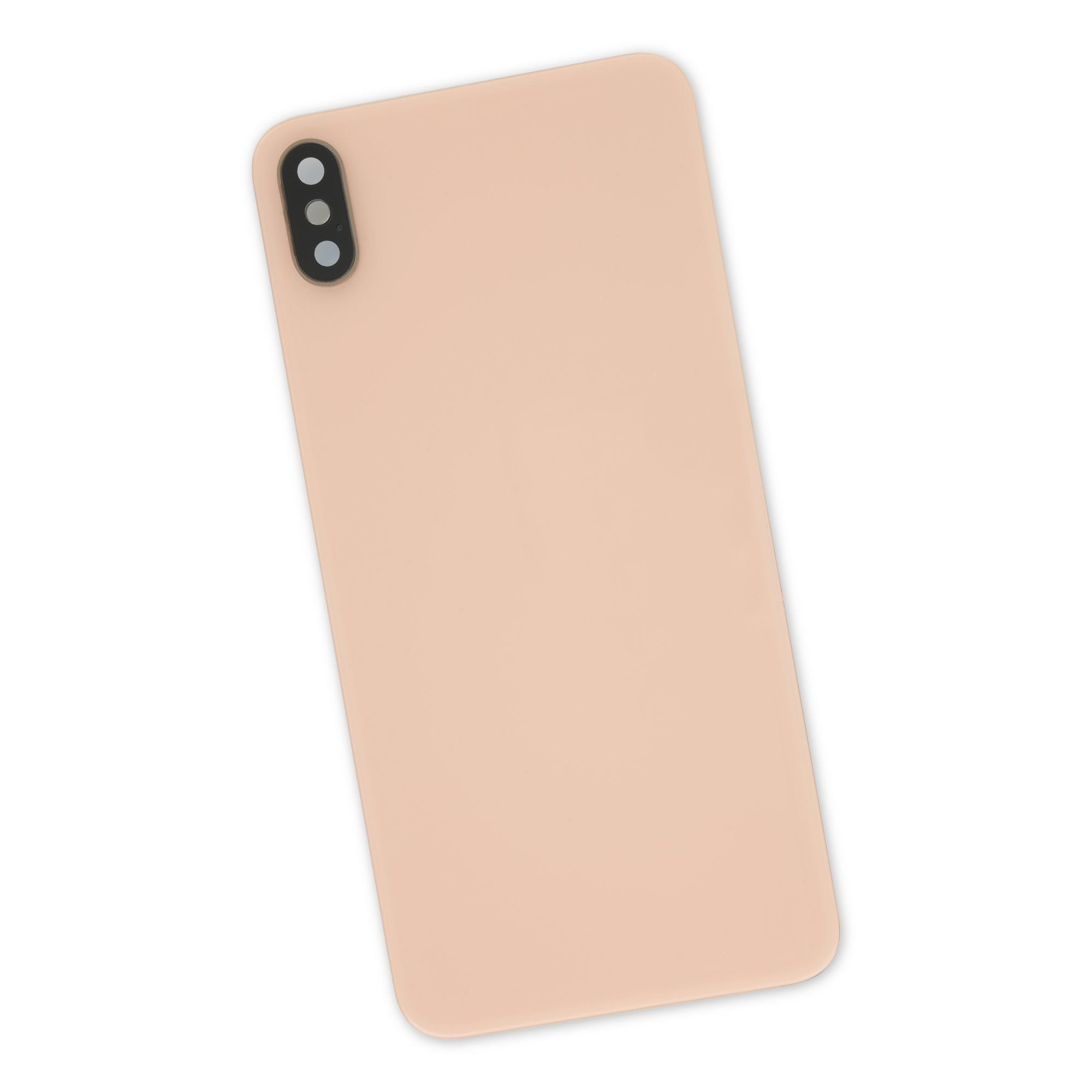 iPhone XS Max Aftermarket Blank Rear Glass Panel with Lens Cover - Gold, IF407-017-3