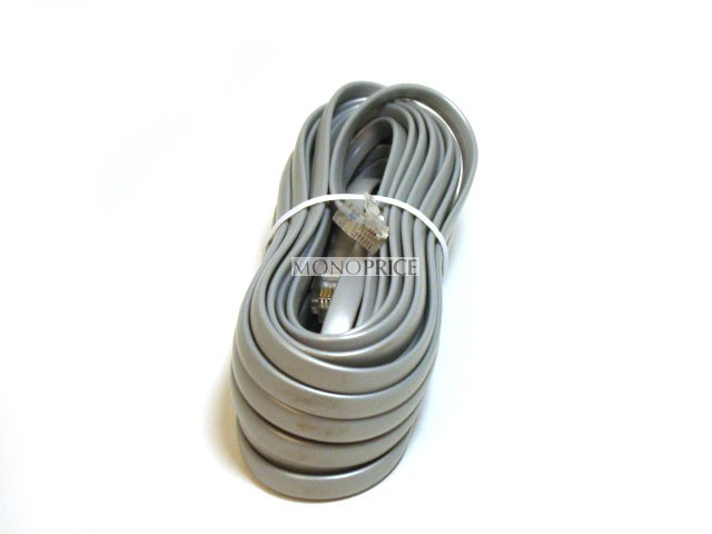 Phone cable, RJ12 (6P6C), Straight - 7.6m for Data, RJ11-942