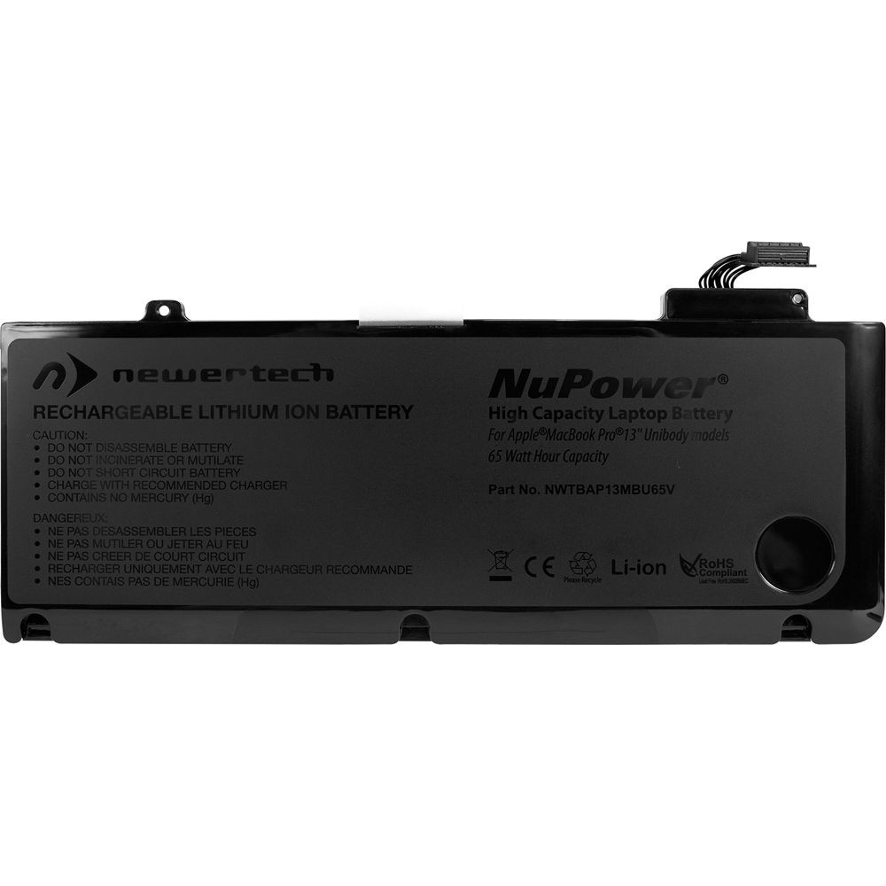 NewerTech NuPower 65 Watt-Hour Battery for MacBook Pro 13-inch 2009-2012 non-Retina Models - Repair Kit With Tools, NWTBAP13MBU65V
