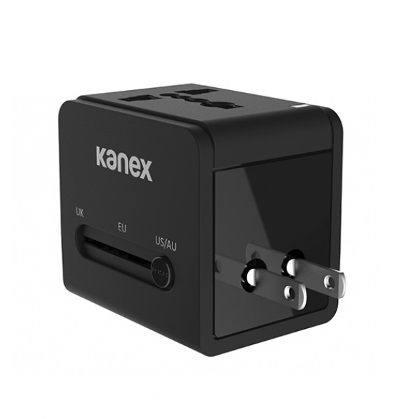 Kanex 4-in-1 Power Adapter with 2 x USB Ports - Black, K160-1057-BK