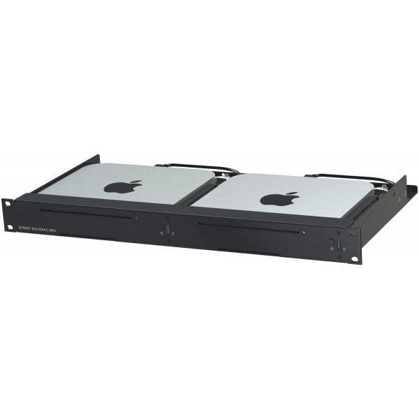 Sonnet Technologies RackMac Mini Version 2 (2018) - Server Rack Mount for Mac mini - Compatible with all Mac minis (2010, 2011, 2014 and 2018)., RACK-MIN-2XA