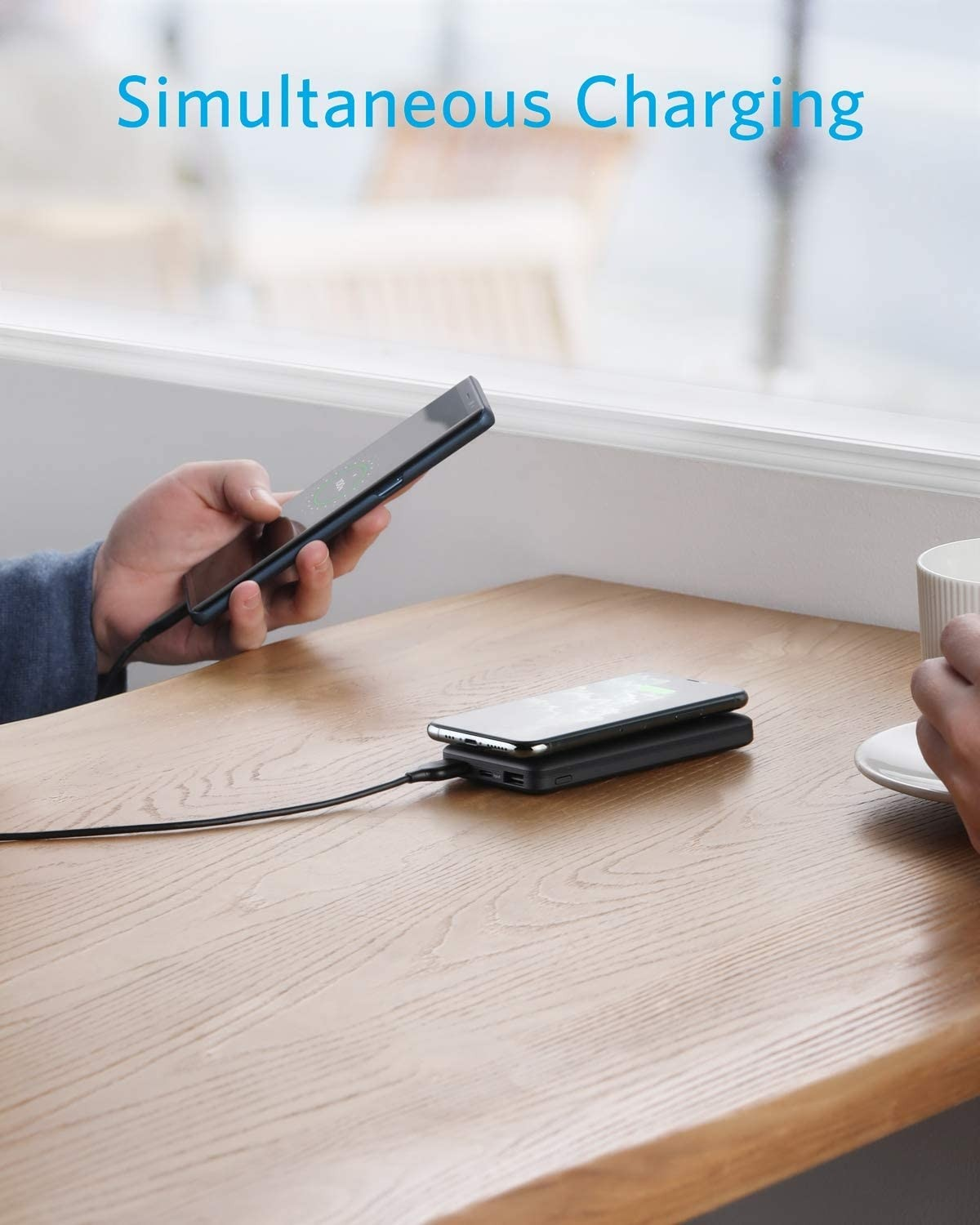 ANKER PowerCore Essential 10000mAh The Hybrid Wireless and Portable Charger - Black, A1615T11