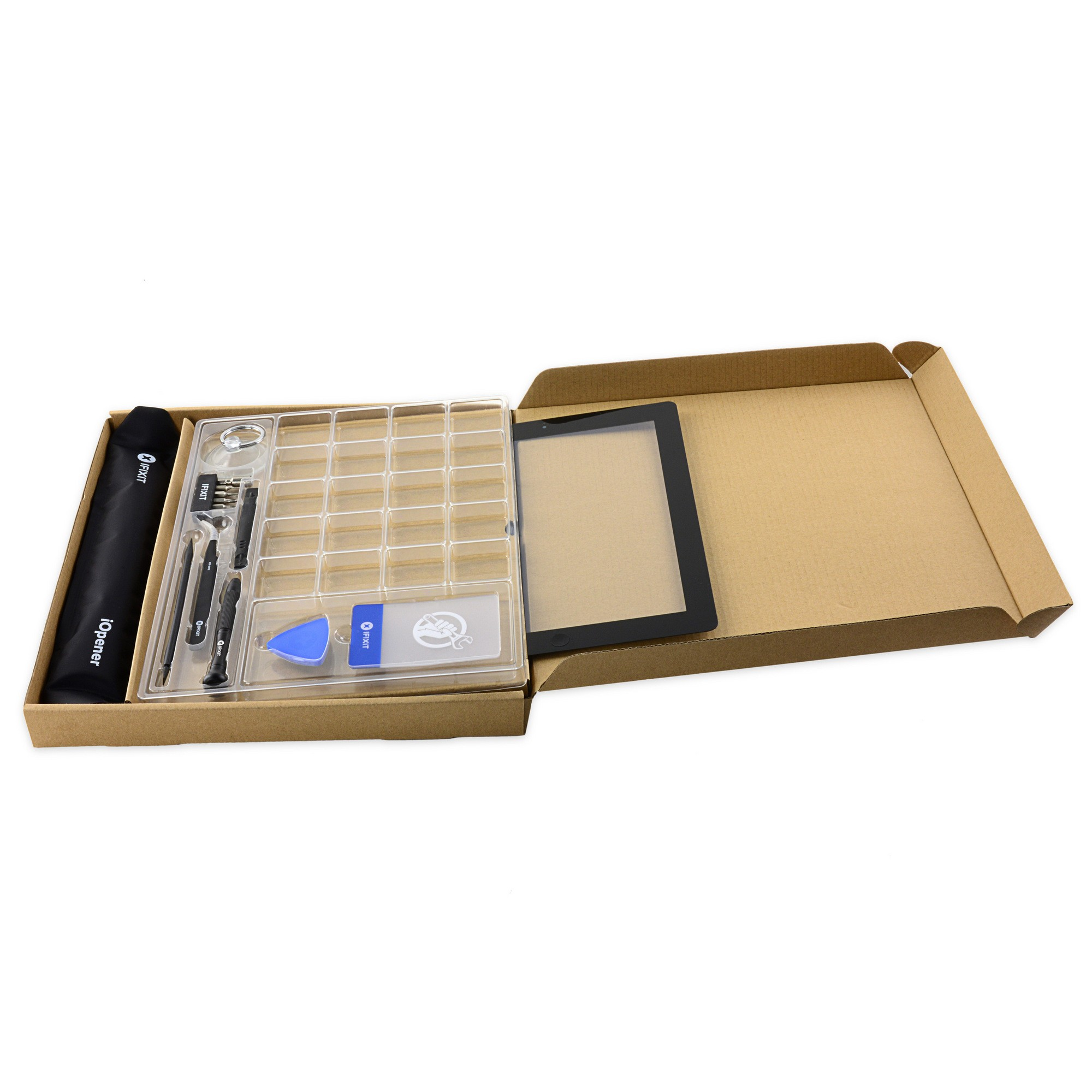 iPad 3 Front Glass/Digitizer Touch Panel Full Assembly, Fix Kit, New - White, IF116-018-9