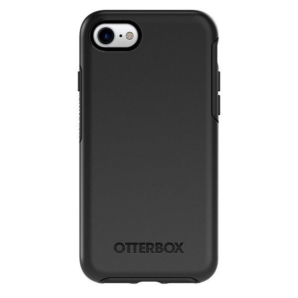 OtterBox Symmetry Clear Series Case for iPhone 8/7/SE (Gen 2) - Black, 77-56669