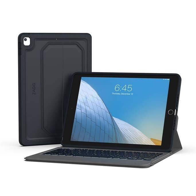 ZAGG Rugged Messenger Wireless Keyboard & Durable, Detachable Case for 10.2-inch (7/8th Gen.) iPad, 103104693