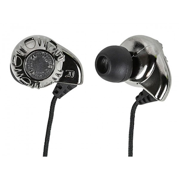 Enhanced Bass Hi-Fi Noise Isolating Earphones - Silver, EAR-8320