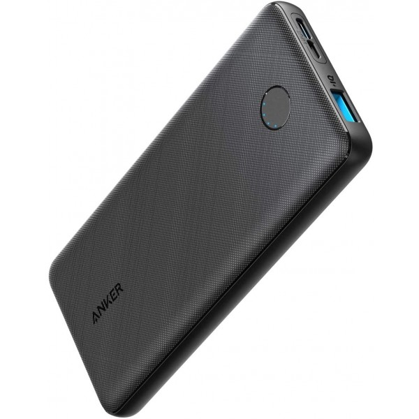Anker PowerCore Slim 10000, Ultra Slim, Compact 10000mAh External Battery, (USB-C Input Only) - Black, A1229T11