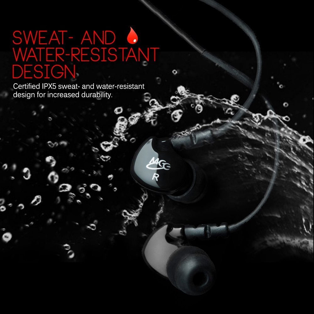 MEElectronics Sport-Fi M6 Noise Isolating In-Ear Headphones with Memory Wire (Black), B0038W0K2K