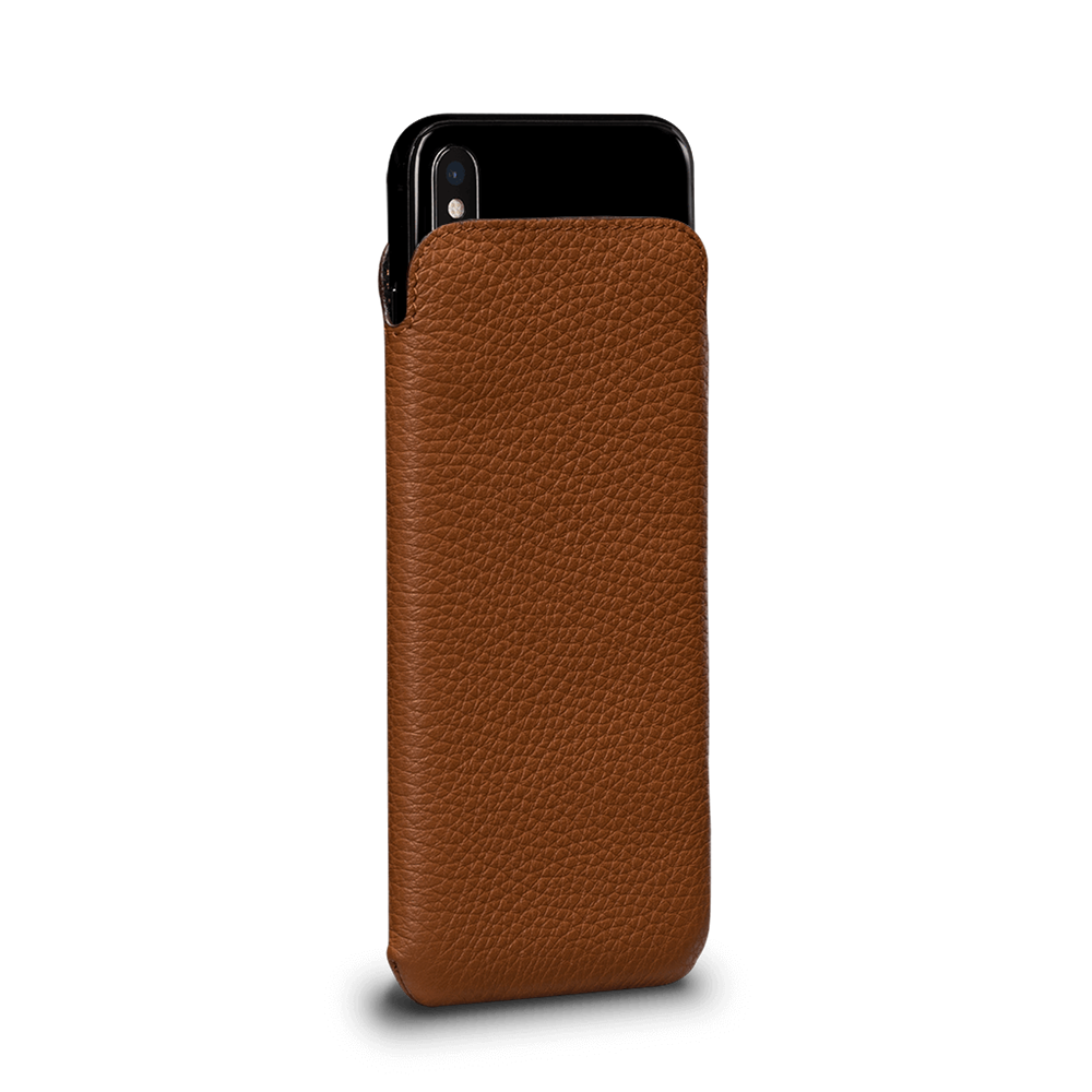 Sena Ultraslim Classic Leather Sleeve Pouch for iPhone XS Max - Tan, SFD39306NPUS