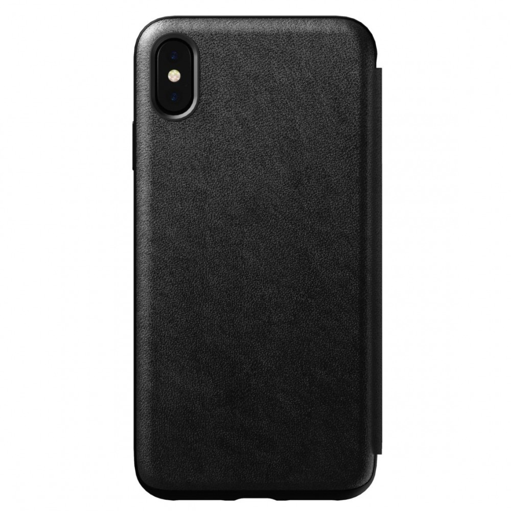Nomad Horween Leather Rugged Folio for iPhone XS Max - Black, NM21T10H00