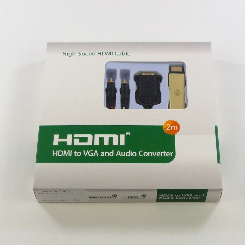 HDMI to VGA Cable w/ Audio Support and support for HDCP - Apple TV Compatible, HDMI-VGA-CABLE