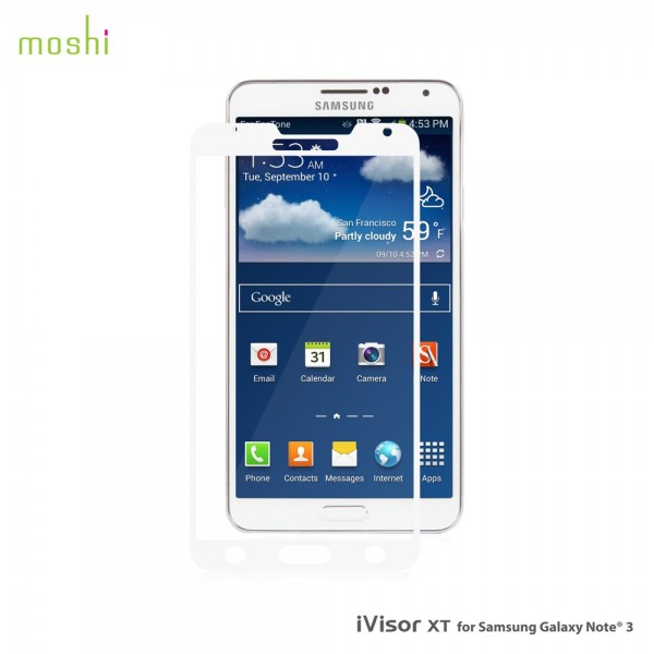 Moshi iVisor XT for Galaxy Note III - White, M-IVXT-GXN3-WH