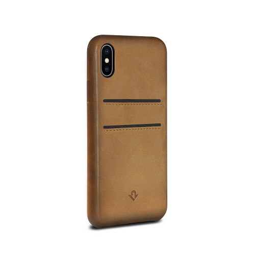 Twelve South Relaxed Leather w/ Pockets for iPhone X/Xs - Cognac