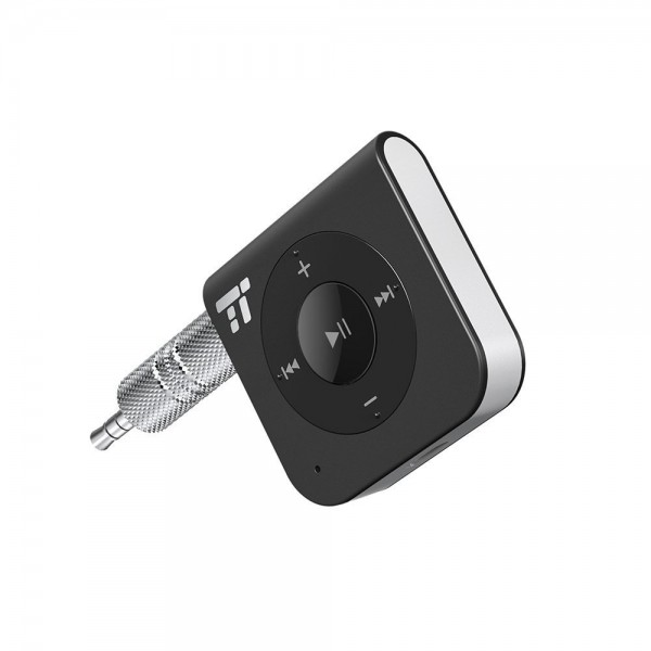 TaoTronics 15 Hour Bluetooth Receiver/Bluetooth Car Kit,  3.5mm Aux Stereo Output, Hands-Free Calling, Bluetooth 4.2, Noise Cancelling, TT-BR06US