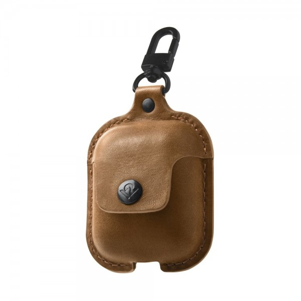 Twelve South AirSnap for AirPods - Cognac, 12-1803