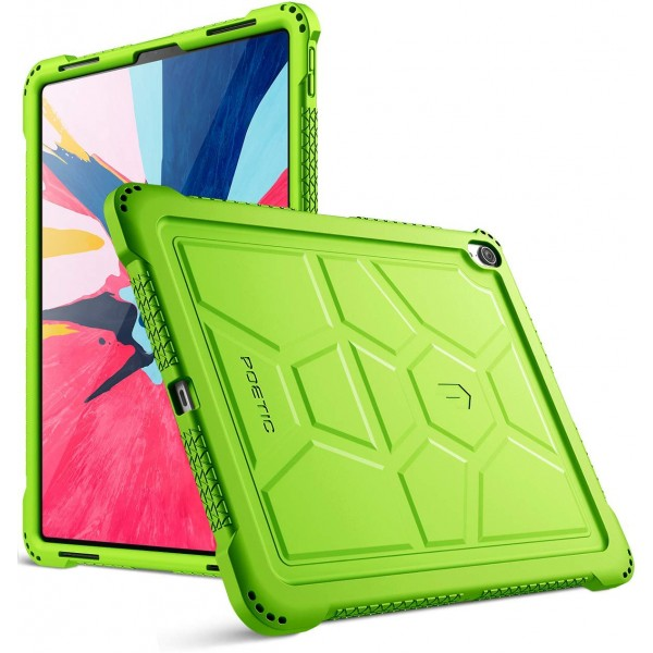 Poetic TurtleSkin Series Protective Silicone Case for Apple iPad Pro 12.9 Inch (2018) [Not Supported Apple Pencil Magnetic Attachment]  - Green, TurtleSkin-iPad-Pro-12.9-2018-Green