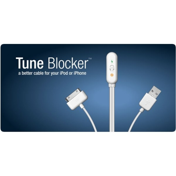 Matias Tune Blocker - A better cable for your iPod or iPhone. Charge or sync your device with ease! 3' Length, White color