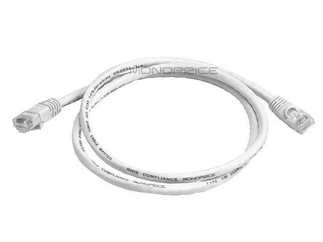 0.9m 24AWG Cat6 550MHz UTP Ethernet Bare Copper Network Cable - White, ETH-2299