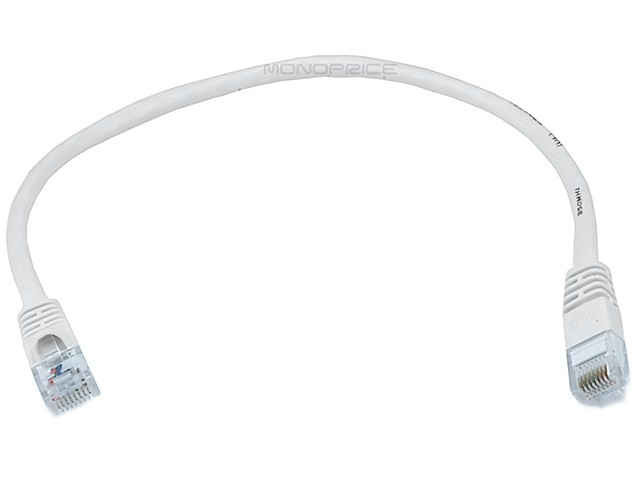 30cm 24AWG Cat6 550MHz UTP Ethernet Bare Copper Network Cable - White, ETH-2292
