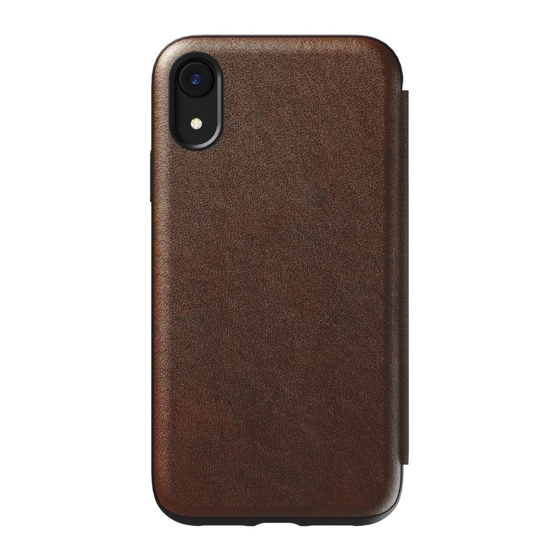 Nomad Horween Leather Rugged Tri-Folio for iPhone XR - Rustic Brown, NM21QR0H50