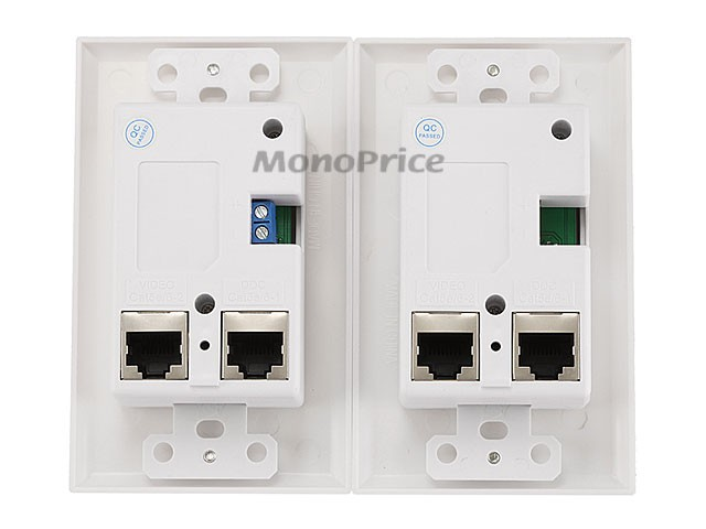 **DISCONTINUED** HDMI Over CAT5E / CAT6 Extender Wall Plate w/ LED Indicator (Pair) - Single Port (1P) - White, WALL-8200