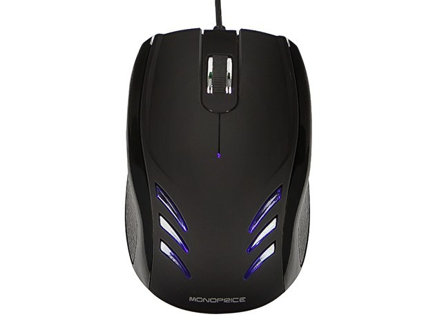 Blu Streak 3-Button Optical Mouse - Black, MOUSE-9255