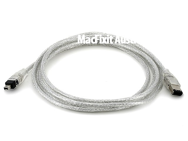 IEEE-1394 FireWire iLink DV Cable 6P-4P M/M - 6ft (CLEAR)