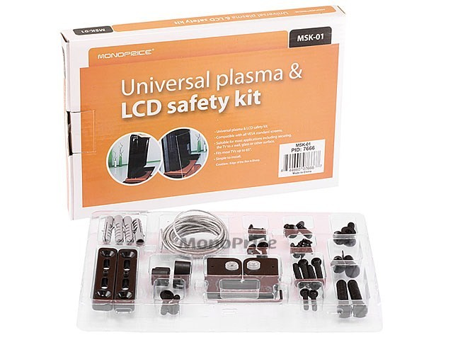 Universal Safety TV Lock for LCD LED and Plasma TV, LOCK-7666