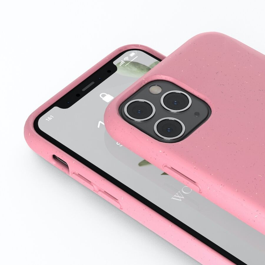 Woodcessories - BioCase - iPhone 12/12 Pro - Pink, eco461