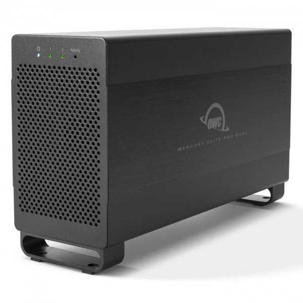 OWC Mercury Elite Pro Dual USB 3.1 Gen 1 & Thunderbolt 2 RAID Storage Enclosure with cables, OWCTB2U3MED0GB