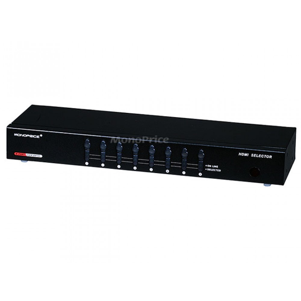 **DISCONTINUED** 8X1 Enhanced Powered HDMI Switcher w/ Remote, HDMI-SWITCH-4067