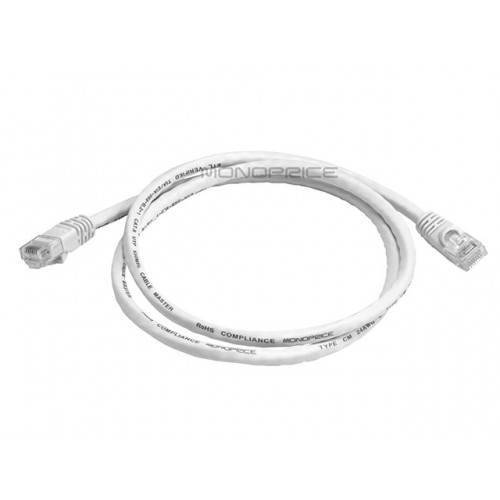 0.9m 24AWG Cat6 550MHz UTP Ethernet Bare Copper Network Cable - White