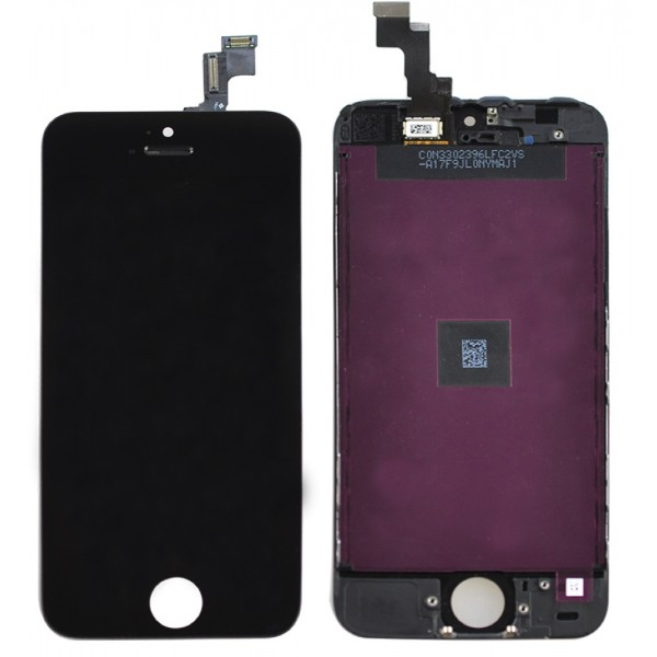 iPhone 5S Complete LCD w/ Digitizer - Display Assembly Replacement - Black, I5S-001B
