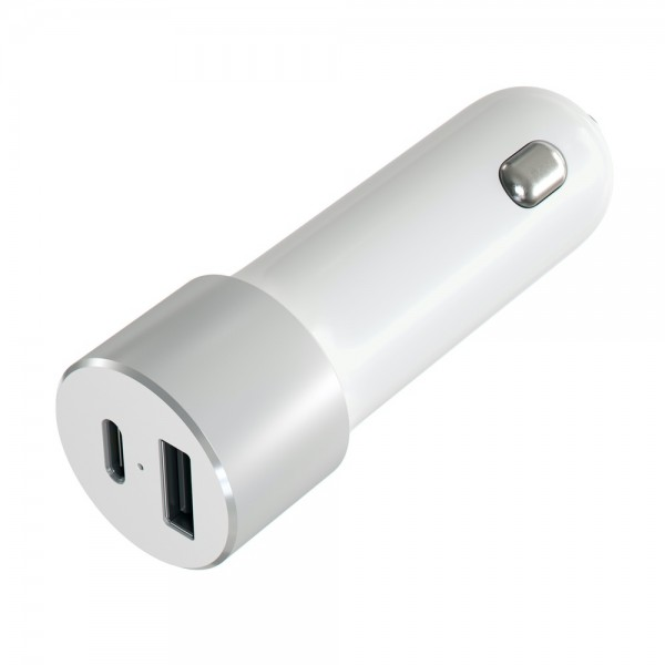 Satechi 72W USB-C PD Car Charger - Silver, ST-TCPDCCS